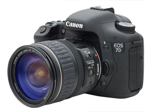 canon eos 7d side view